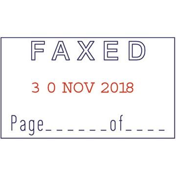 Picture of Self Inking Dater - Date Faxed