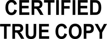 Picture of Certified True Copy