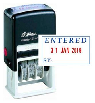 Picture of Self Inking Dater - Date Entered