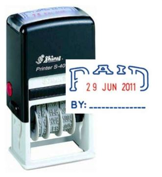 Picture of Self Inking Dater - Date Paid