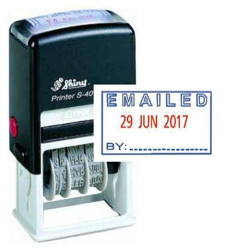 Picture of Self Inking Dater - Date Emailed