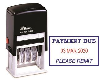 Picture of Self Inking Dater - Payment Due