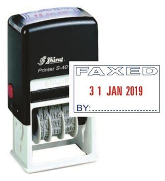 Picture of Self Inking Dater - Faxed