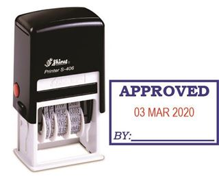 Picture of Self Inking Dater - Date Approved